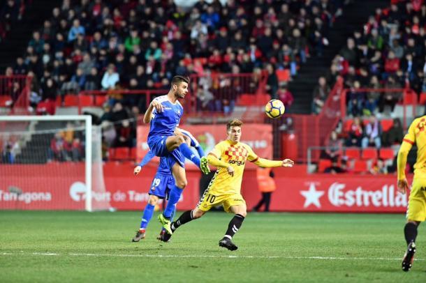 Juan Domínguez, autor del 1-0 reusense | Foto: CF Reus