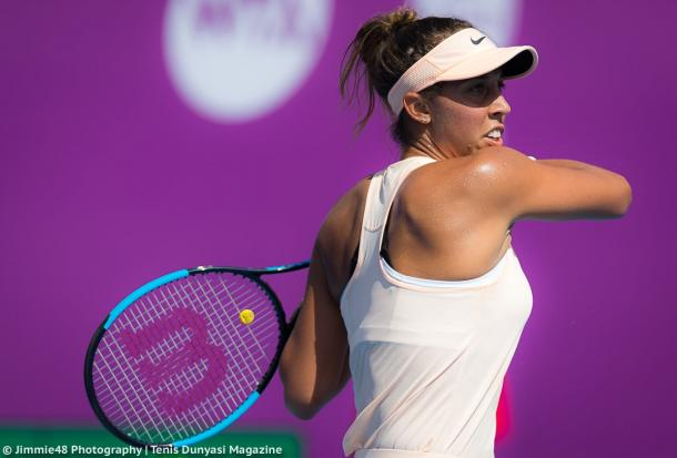 Madison Keys in action during the one-sided affair | Photo: Jimmie48 Tennis Photography