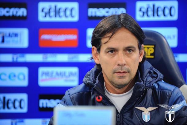 Inzaghi en rueda de prensa | Foto: SS Lazio