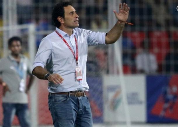 Molina en acción como entrenador | Foto: atleticodemadrid.com