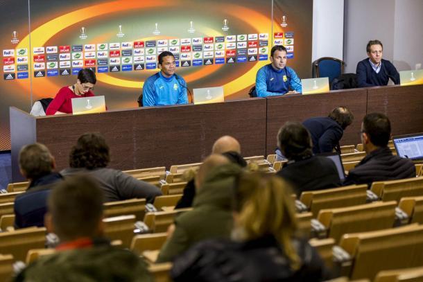 Rueda de prensa del Villareal CF antes del choque // Foto: Villareal CF