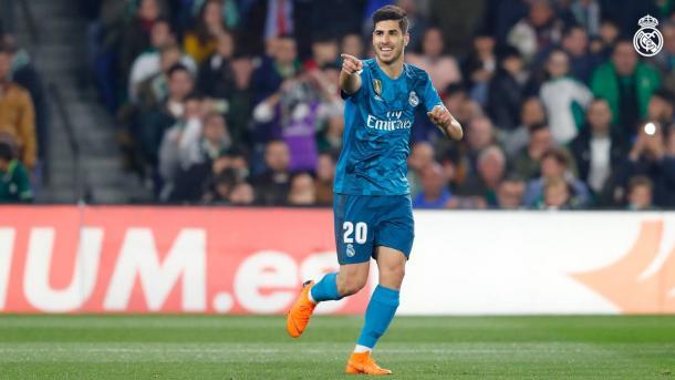 Asensio celebrando el 0-1 / Real Madrid CF