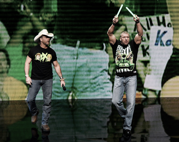 Degeneration X members Shawn Michaels (left) and Triple H (right) in 2014 (Photo: Ethan Miller/Getty Images North America)