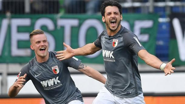 L'esultanza di Kacar dopo aver segnato il gol del 2-1 al 45'. Foto: Twitter Bundesliga English