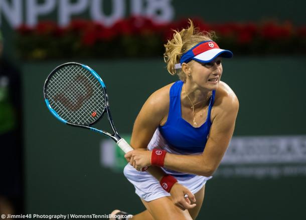 Ekaterina Makarova had the best possible start to the match, claiming the opening three games on a trot | Photo: Jimmie48 Tennis Photography