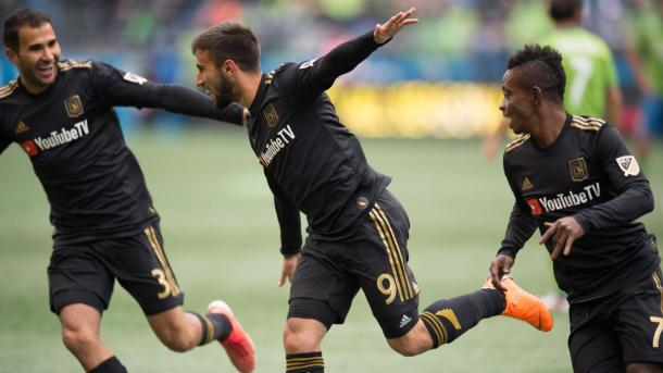 Diego Rossi made history on his MLS debut | Source: lafc.com