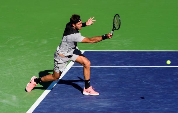 Del Potro se quedó con el primer set por 6-4 | Foto: ATP.