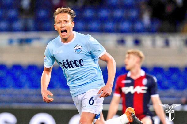 Lucas Leiva celebra su gol | Foto: SS Lazio