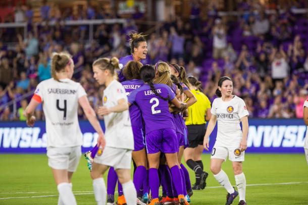 Orlando celebrate their equalizer | Source: orlandocitysc.com