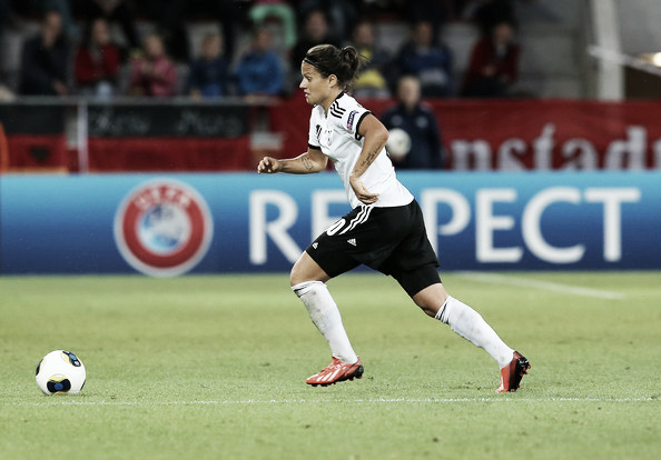 Marozsán in action for Germany | Source: zimbio.com