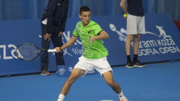 Damir Dzumhur during his win - Source: SofiaOpen.bg
