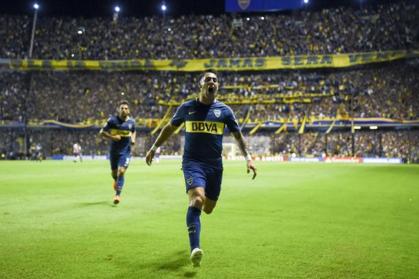 Cristian Pavón le dio la victoria al Xeneize ante Junior en La Boca | Foto: La Pampa DíaxDía