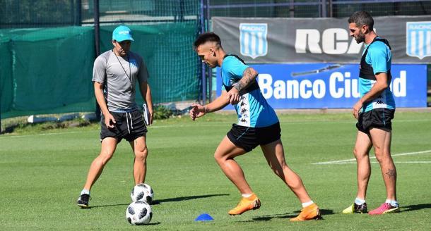 Coudet pondrá a Lautaro de titular y cuidará a Lisandro | Foto: Racing Club.