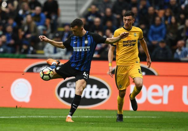 Perisic foi o destaque no meio campo da Inter (Foto:reprodução/twitter @Inter)
