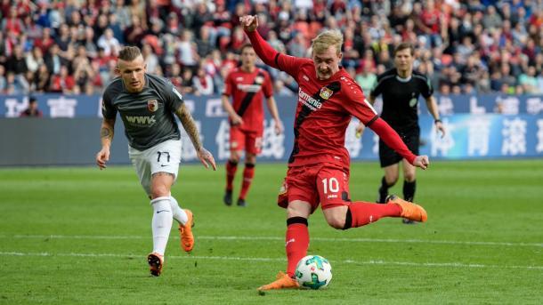 Brandt fue una de las figuras del Leverkusen en la Bundesliga que ya terminó | Foto: @bayer04_es