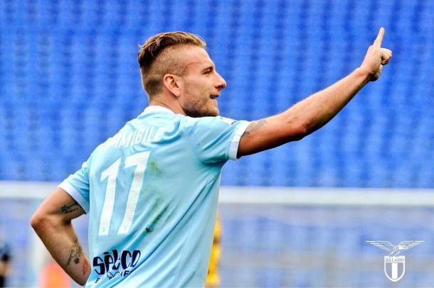 Immobile celebra un gol | Foto: SS Lazio