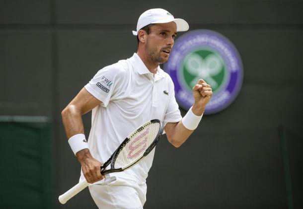 Puño apretado y Djokovic en la mira. Imagen-Wimbledon