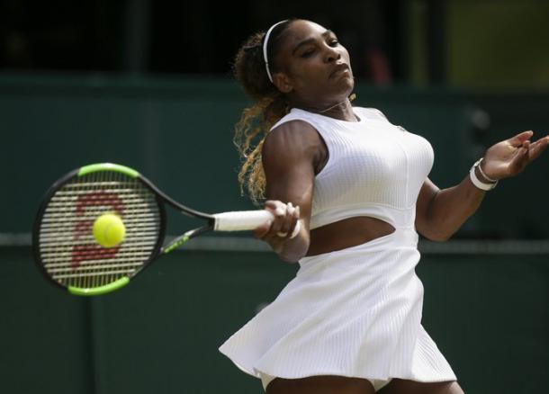 Ataca Serena. Imagen-Wimbledon