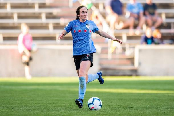 Chicago forward Michele Vasconcelos is out for the season with an ACL tear.   Photo: isiphotos.com