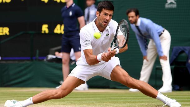 Elasticidad Nivel Novak.  Imagen-Wimbledon