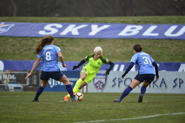 Megan Rapinoe scored the only goal of the game | Source: nwslsoccer.com