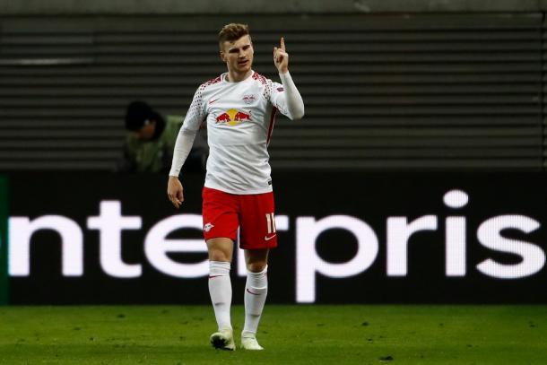 Timo Werner, el autor del 1-0 | Foto: @EuropaLeague