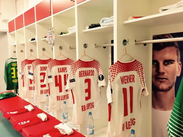 Camerino listo para recibir a los jugadores del  Leipzig | Foto: @RBLeipzig_EN