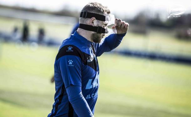 Guidetti jugará con máscara. Fotografía: Deportivo Alavés