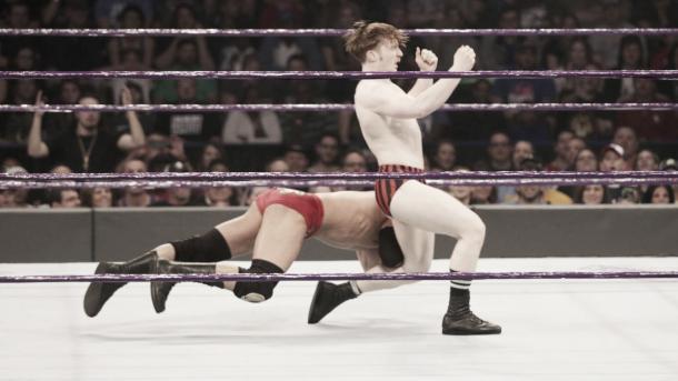 Daivari attacked his rival. Photo- WWE.com