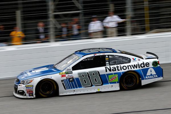 Earnhardt Jr. races. (Daniel Shirey/Getty Images North America)