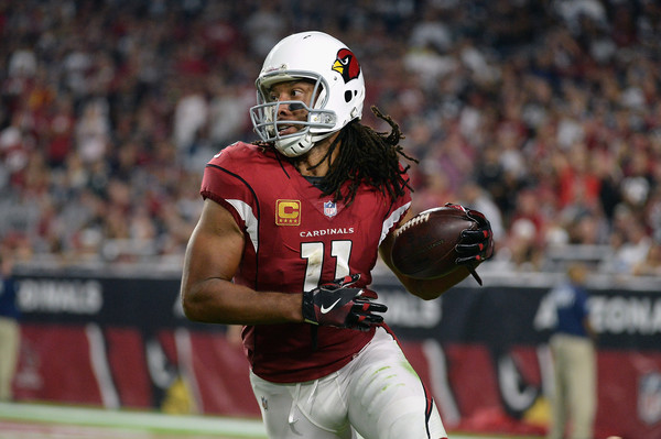 Wide receiver Larry Fitzgerald #11 of the Arizona Cardinals runs up field during the first half of the NFL game against the Dallas Cowboys. (Sept. 24, 2017 - Source: Jennifer Stewart/Getty Images North America)