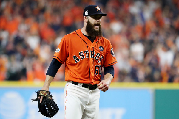 Keuchel reacts after a strikeout in the third inning/Photo: Ronald Martinez/Getty images