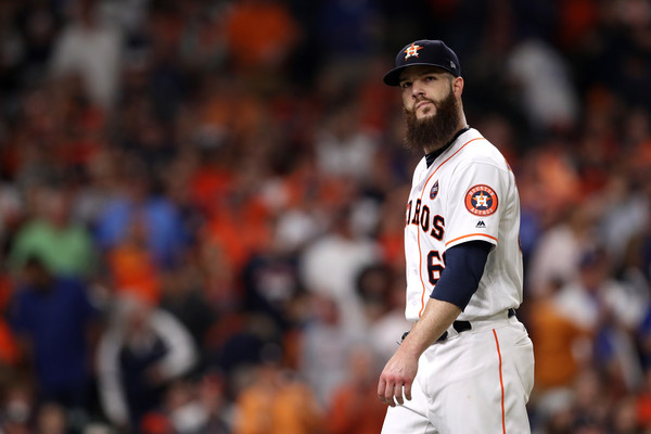 It was a rough night for the Astros ace lefty/Photo: Christian Petersen/Getty Images