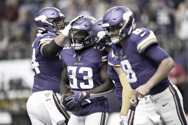 Dalvin Cook se destacó con 11 yardas y 2 touchdowns (Vikings.com)