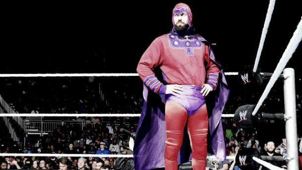 Damien Sandow as Magniteo. | Photo: cagesideseats.com