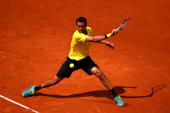 Cilic in action at the French Open in 2015 (Getty/Dan Istitene)