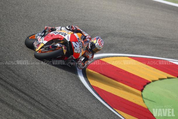Dani Pedrosa durante el Gran Premio de Aragón. | FOTO: Lucas ADSC VAVEL