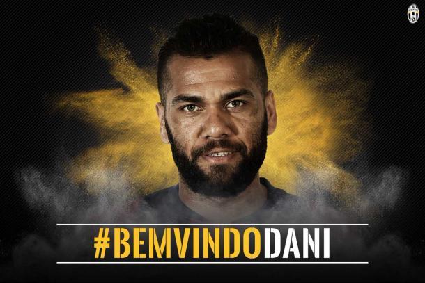 Anúncio da Juventus para a contratação de Daniel Alves (Foto: Divulgação/Juventus)