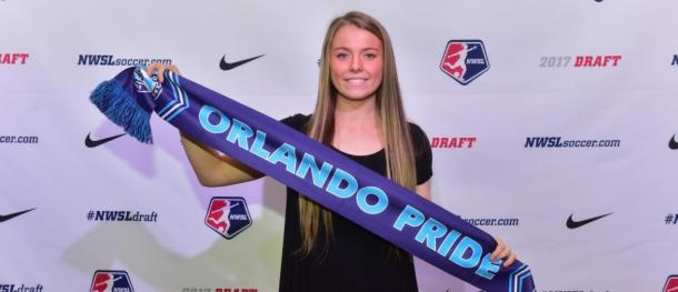 Danica Evans picked 22nd overall during the 2017 NWSL College Draft | Source: OrlandoCitySC.com