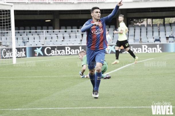 Daniel Romera la temporada pasada con el FC Barcelona B. | Foto: Noelia Déniz, VAVEL
