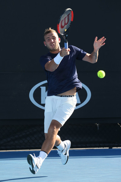 Daniel Evans during his win over Facundo Bagnis. Photo Source: Getty Images/Pat Scala