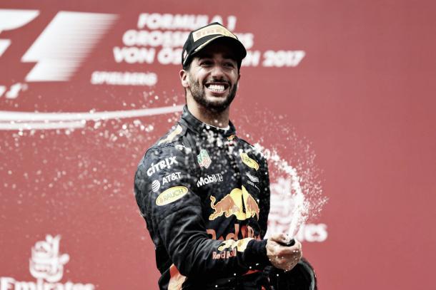 Daniel Ricciardo en el pasado Gran Premio de Austria | Getty Images