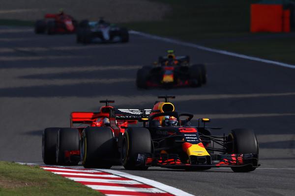 Ricciardo tras adelantar a Vettel. Fuente: Getty Images