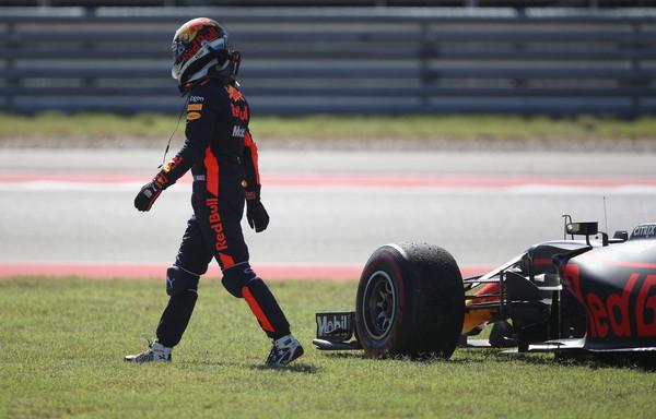Daniel Ricciardo abandonó en el GP de EEUU 2017 | Foto: Clive Mason/Getty Images North America