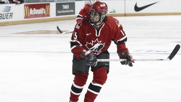 Danielle Goyette durante un partido con la selección de Canadá | Foto:hockeycanada.ca