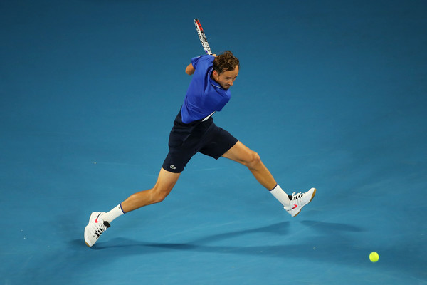 Daniil Medvedev in action at the Australian Open this year (Image: AsiaPac)