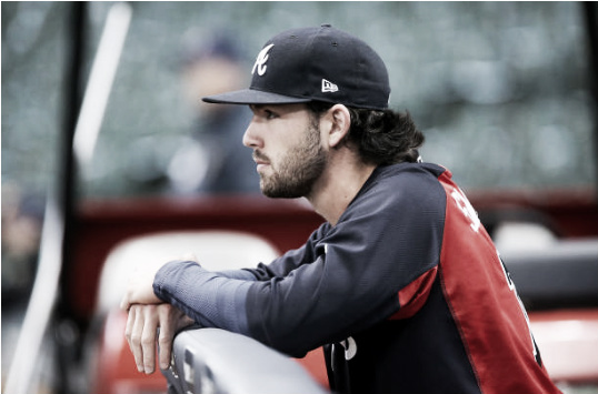 Shortstop Dansby Swanson's start to his rookie campaign has been filled with more offensive struggles than most had projected. (Photo courtesy of Dylan Buell via Getty Images)