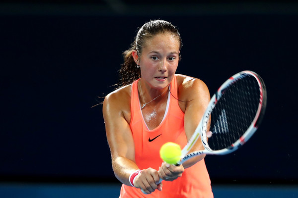Kasatkina in action at Brisbane | Photo: Chris Hyde/Getty Images AsiaPac