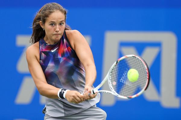 Daria Kasatkina in action at the Wuhan Open | Photo: Yifan Ding/Getty Images AsiaPac