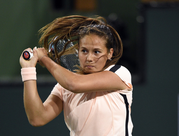 Daria Kasatkina's backhand looked solid today | Photo: Kevork Djansezian/Getty Images North America
